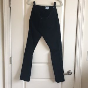 Black Frame cropped jeans with distressing